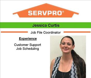 Female employee Jessica's photo and credentials