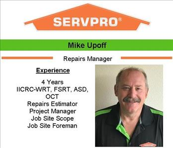 Male employee Mike's photo and credentials