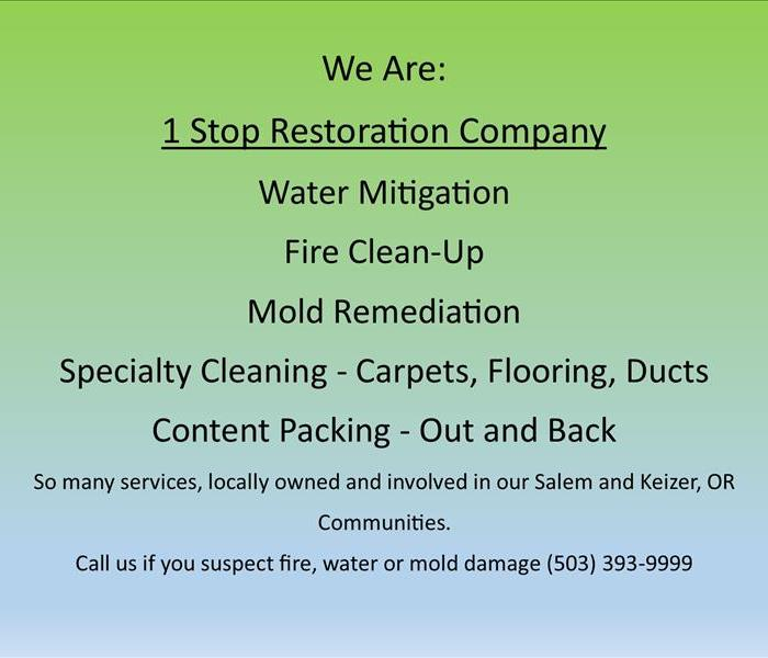 Fire, Water, Mold - Salem, OR