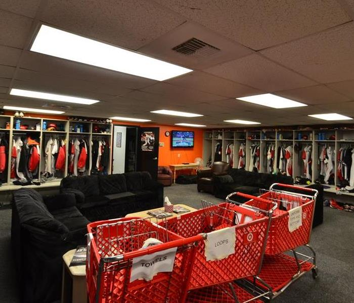 Cleaning the Volcanoes Locker Room