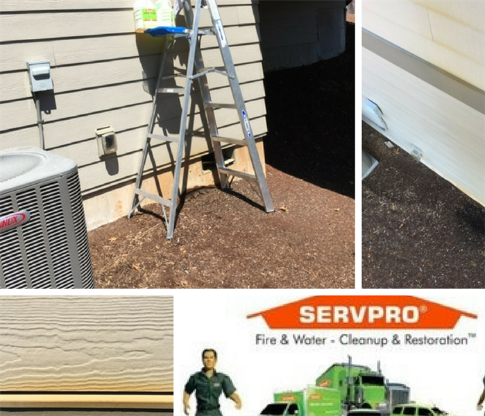 Water Damage Home Siding Staining - Salem, Oregon