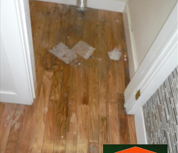 Water Damage Water Heater Line Sprung a Leak – Salem, Oregon